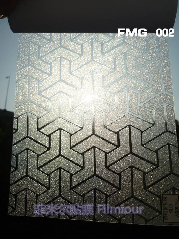 Office and House Window Decorative film FMG-002(no glue, static cling)