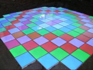 LED lighting floor brick
