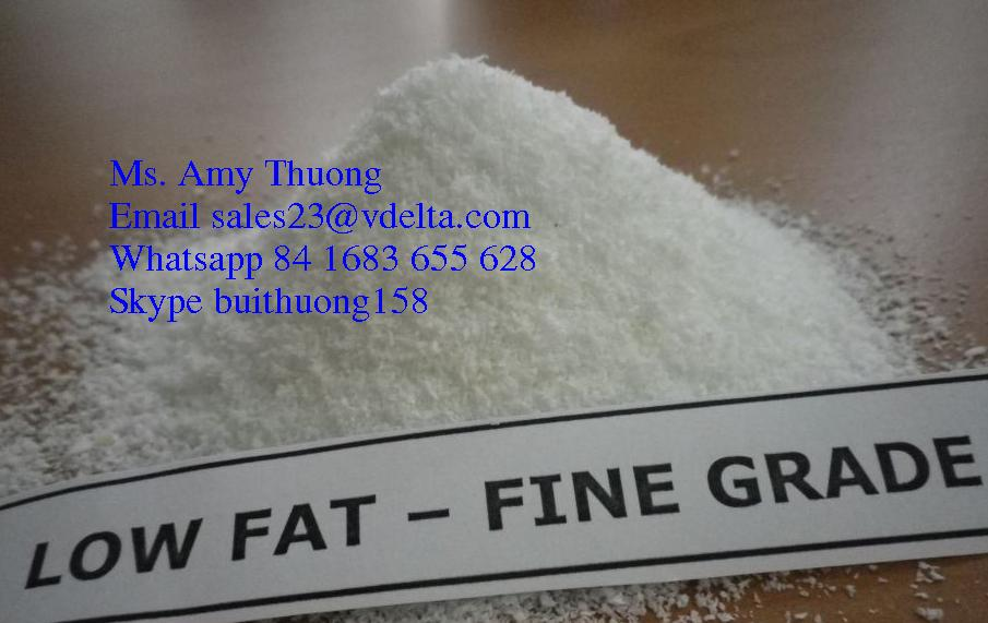 DESICCATED COCONUT POWDER - LOW FAT TYPE