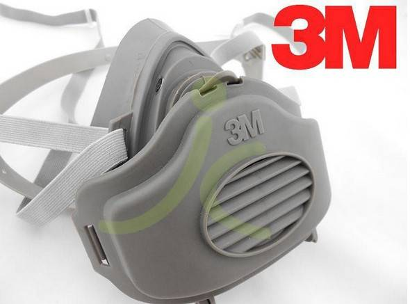 3M 3200 double gas respirator mask, mask, industrial safety equipment