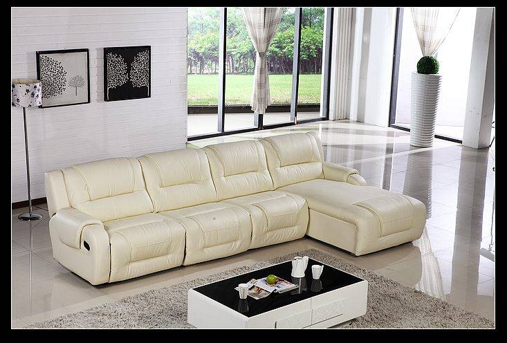 Leather leisure corner sofa with storage and bed