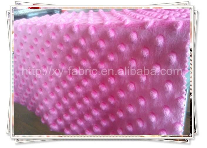 100% polyester fabric/new design of minky dots velboa/super soft velboa