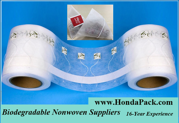 Biodegradable Pyramid Tea Bags with String and Tag