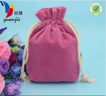 promotion cutton suede jewelry drawstring pouch