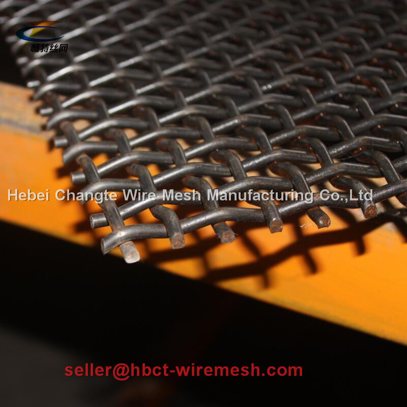 Mining / Coal Steel Vibration Crimped Woven Wire Mesh For Vibrating Screen