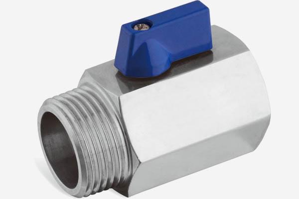 stainless steel 1-pc mini ball valve M/F