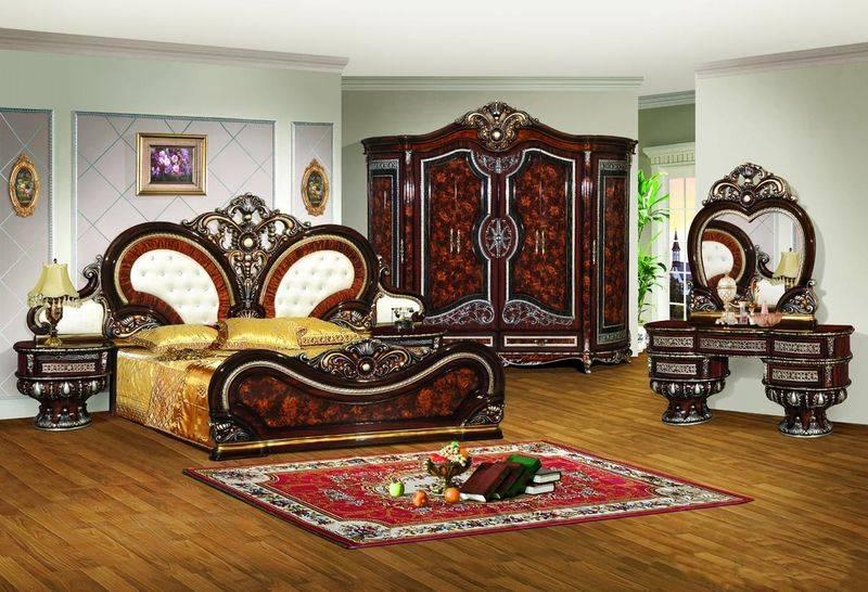 Luxury Antique Bedroom Wooden Furniture Set