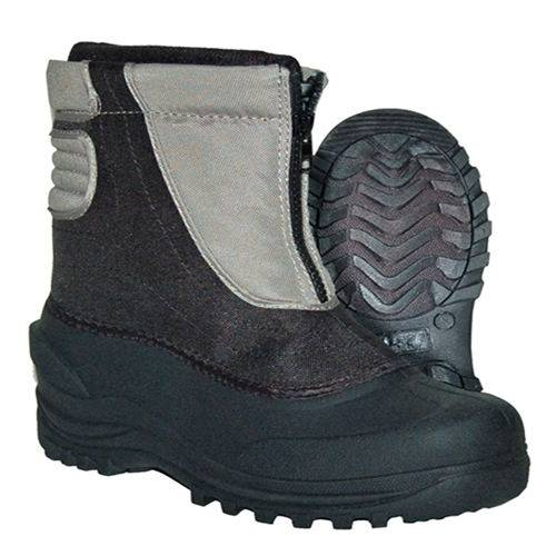 Grey nylon upper snow boots