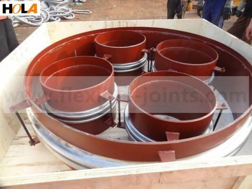 Corrugated axial compensator