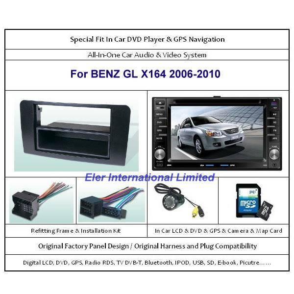 BENZ GL X164 2006-2010 Car DVD Player GPS Navi / Original Factory  Panel / Camera / Map Card