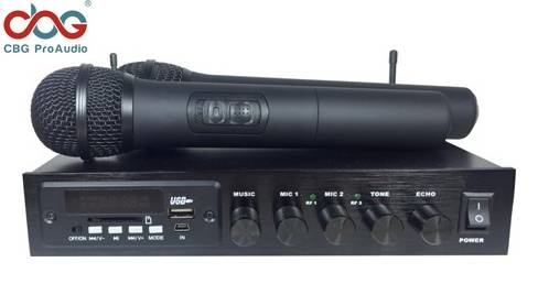 iKM-82 Dual Channel Wireless Karaoke Microphone with Echo, tone Controls, Bluetooth, MP3