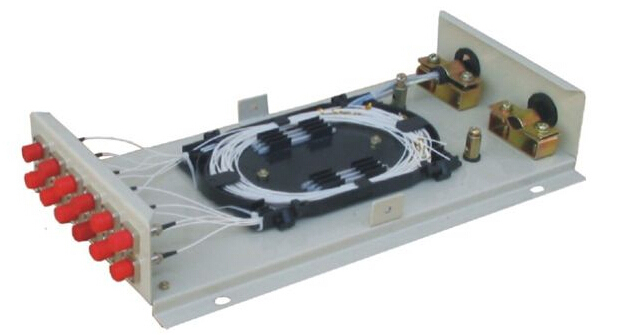 Black Metal Outdoor 8 Cores Fiber Optical ODF Distribution Termination Box