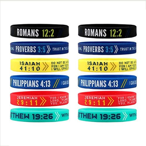 FDA Silicone Sports Wristband With Customized Logo