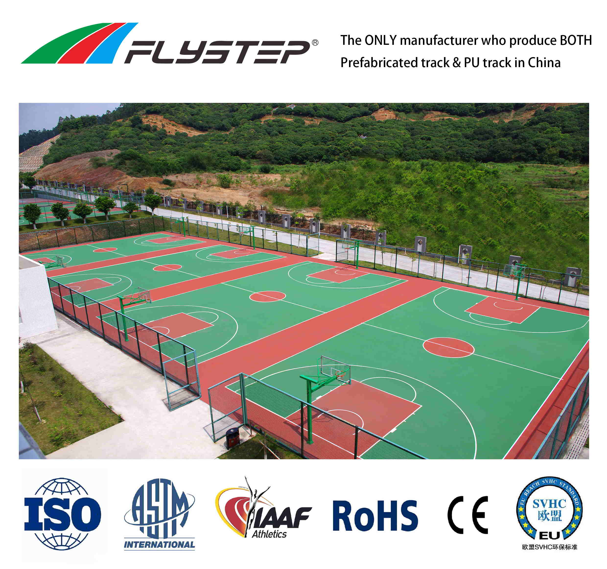 anti-UV/ anti-skid/ anti-aging Outdoor Duralble Silicone PU Coating Painting of Basketball Court