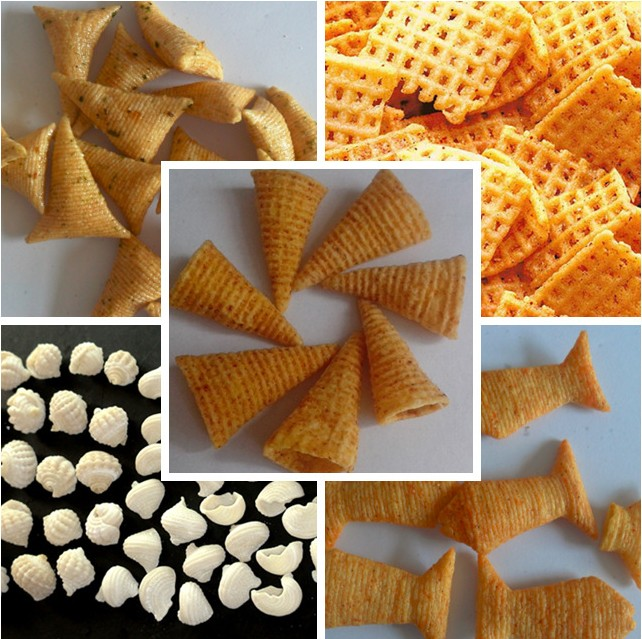 2017 Frying corn chip bugles product manufacturing extruder line