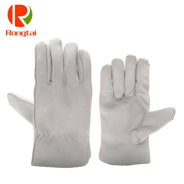Wholesale driving leather gloves cowhide for driving men