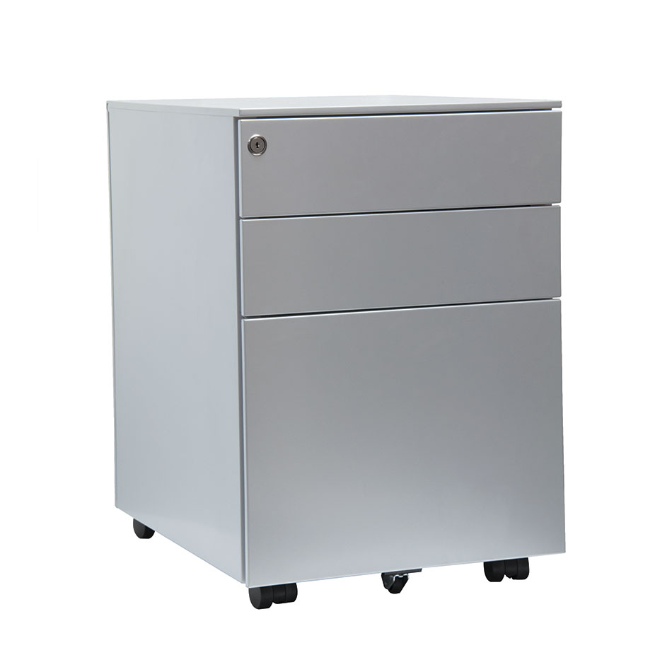 UNDER DESK 3 drawer mobile steel pedestal