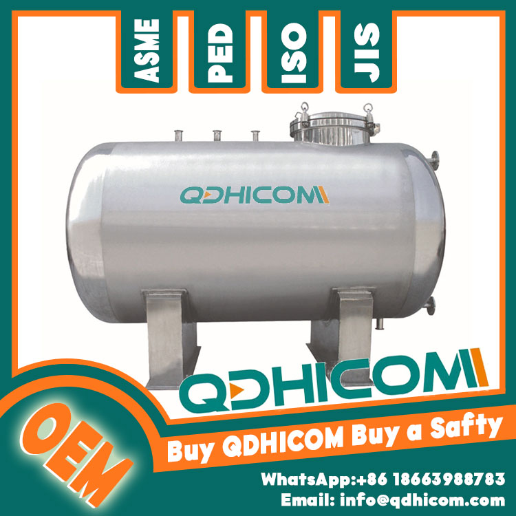2000L ASME approved stainless steel air receiver tank pressure vessel