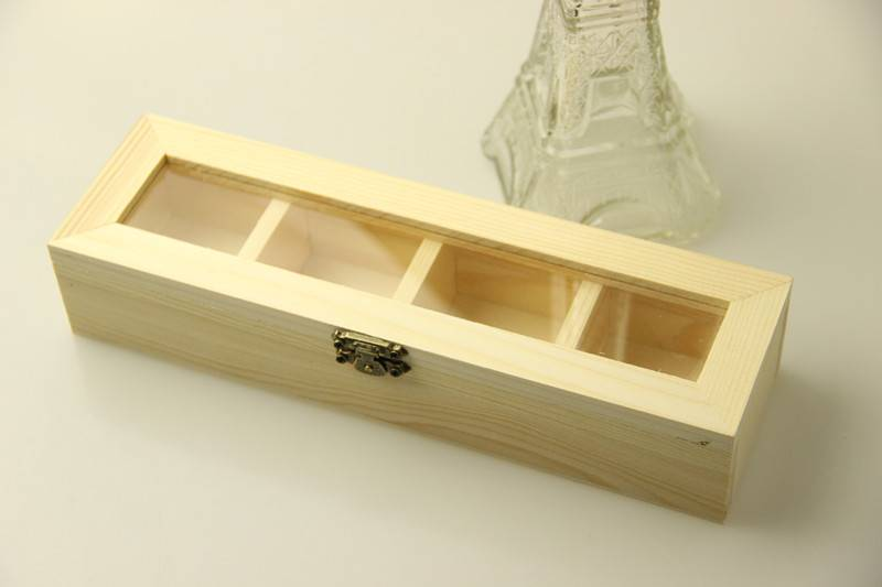 Natural pine wood gift storage box for sales