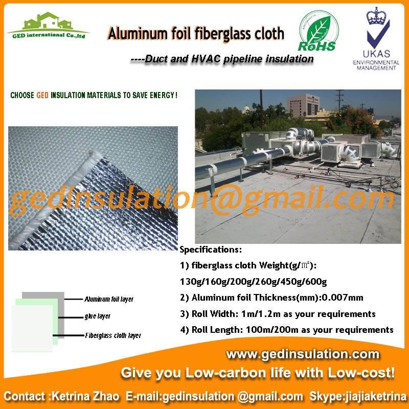 High quality aluminium foil fiberglass cloth