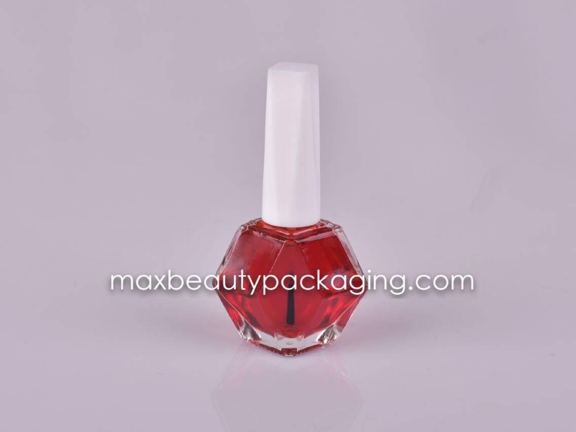 NP-024 Nail Polish packaging nail polish cap round nail polish bottle flat brush