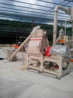 China rice husk hammer mill