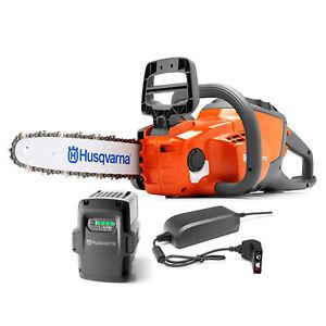Husqvarna 40 Volt Li-ion Cordless Chainsaw - 14in. Bar, 4Ah Battery, Model# 120i