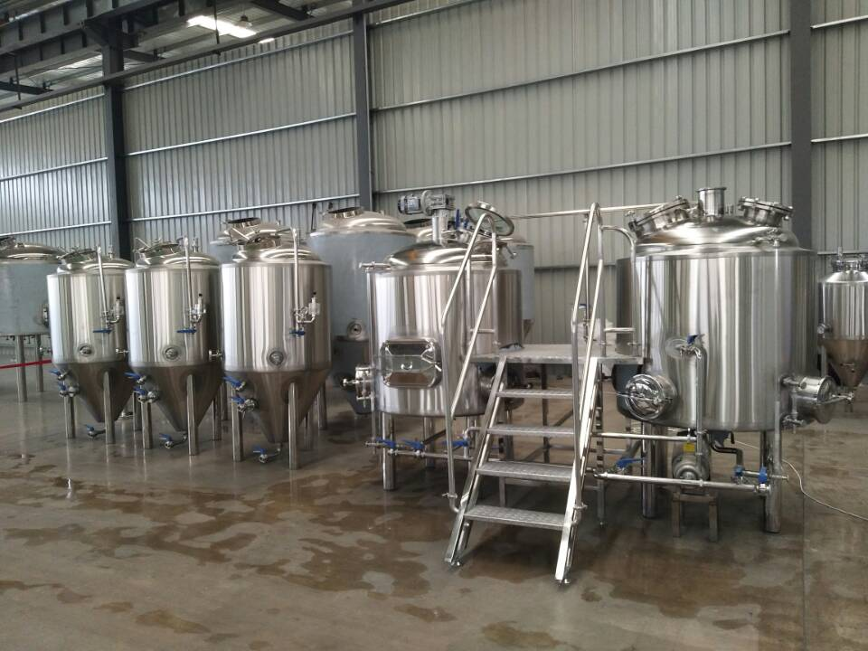 1000l whole beer brewing equipment with good polishing&welding
