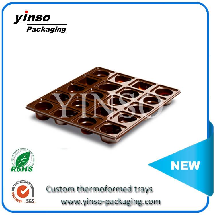 Chocolate blister tray candy insert tray thermoformed blister packing Food Grade Thermoformed Plasti