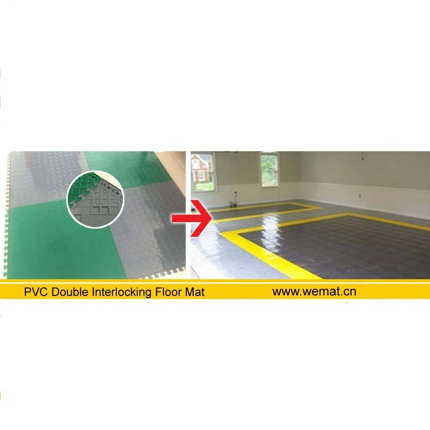 pvc double interlocking floor mat