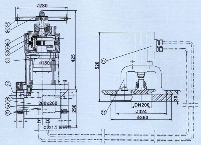 hydraulic control device of ballast system