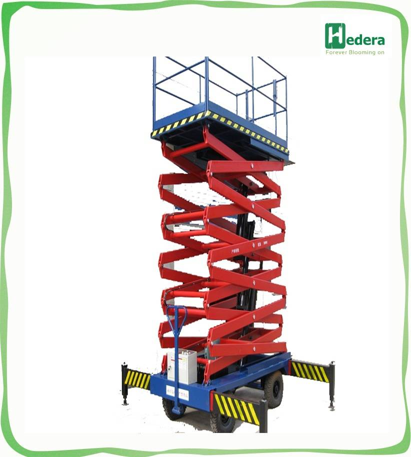 12m mobile electric hydraulic scissor lifts(with CE)