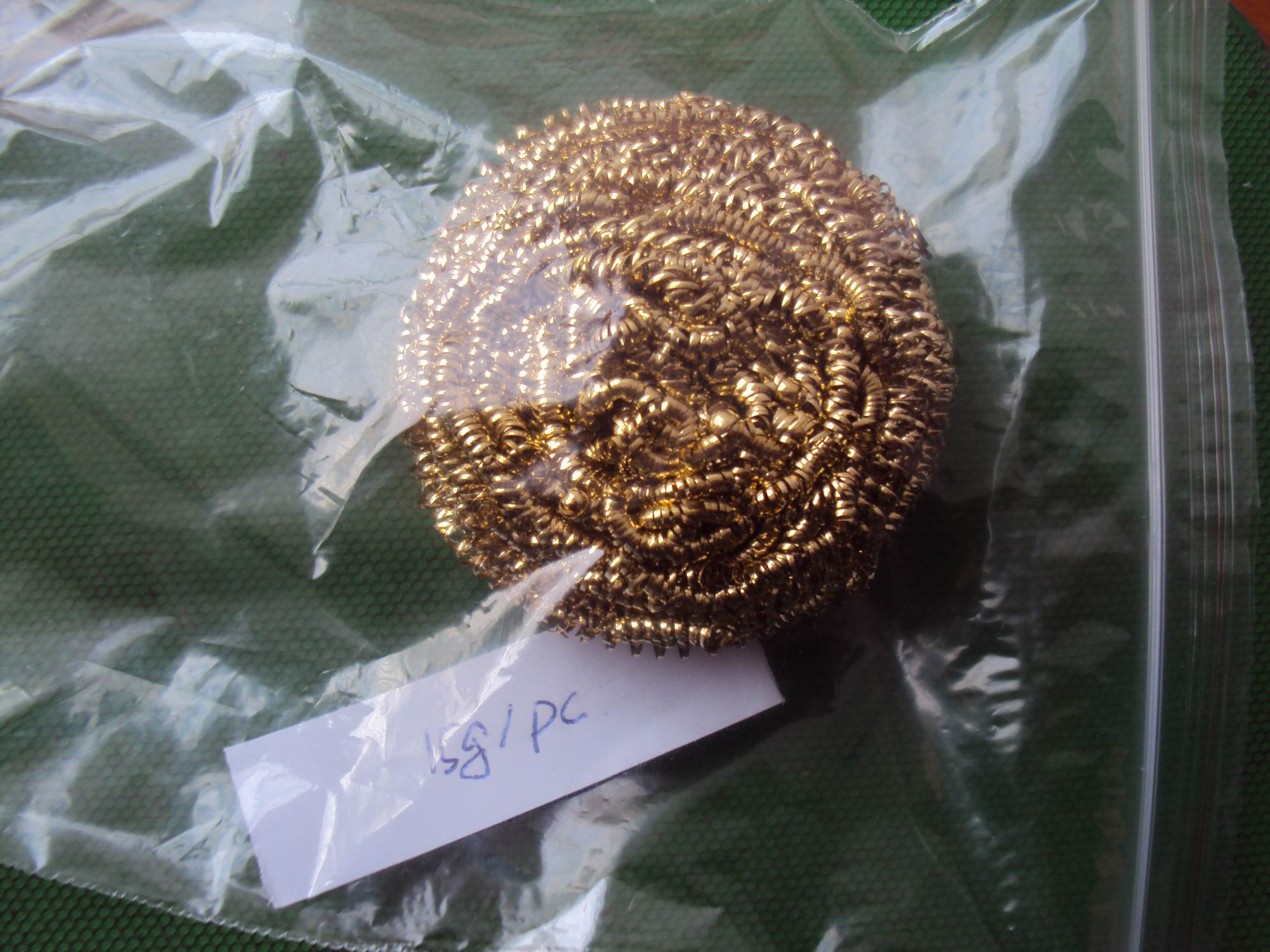 kitchen cleaning brass scourer price made in China