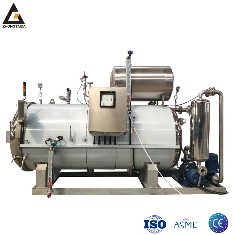 Full-Automatic Industrial Steam Retort Sterilizer Autoclave For Tin Can Food