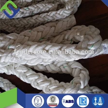 2 inch color nylon braided rope 8 strand mooring rope hot sale