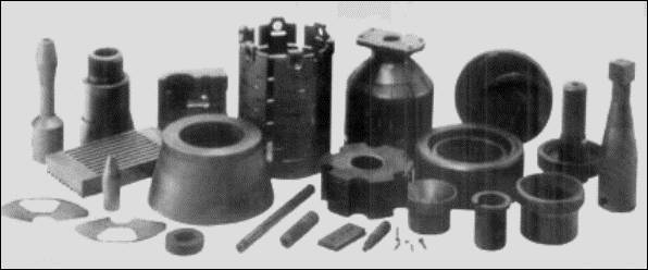 Graphite foil, graphite sheet, graphite tub, graphite rod, gasket material parts