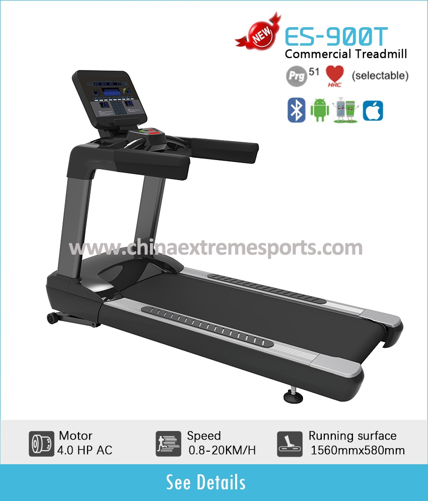 ES900T 4.0HP AC motor commercial treadmill