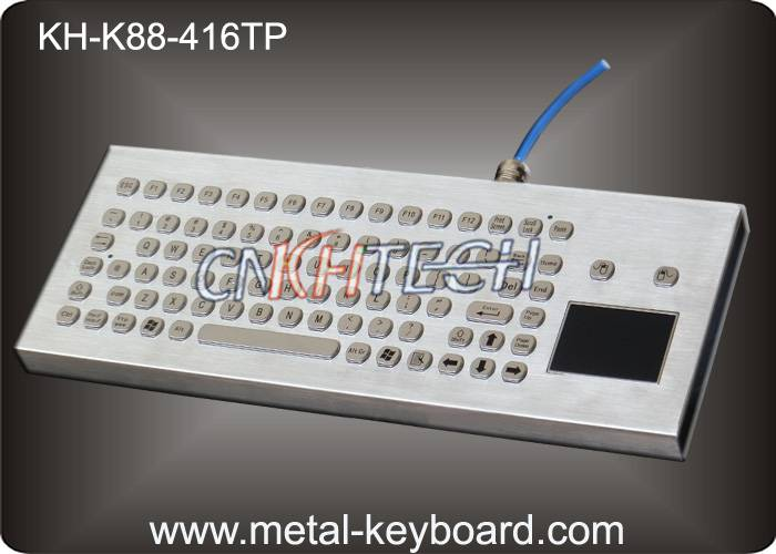 KH-K88-416TP Desktop Metal IP65 Rate waterproof keyboard with touchpad 416 x165 mm Front panel