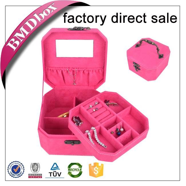 velvet jewelry box with handle