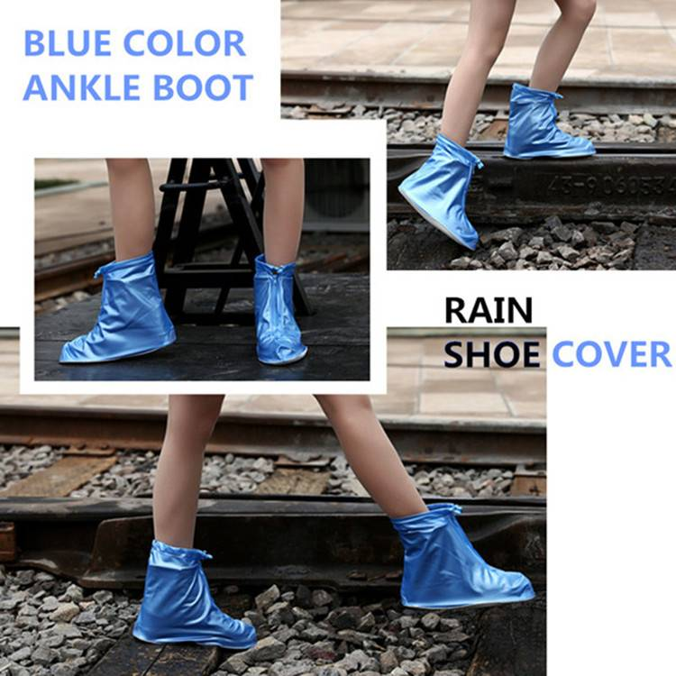 Colorful Foldable PVC Rain Boot Cover Over Shoes