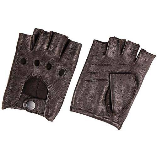 Fingerless driving gloves for men