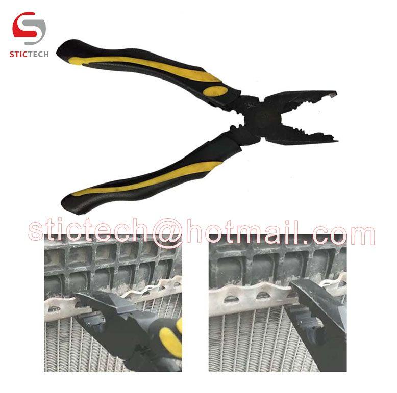 Radiator Repair Tool Opening Plier Tab Lifter Plier for wavy radiator