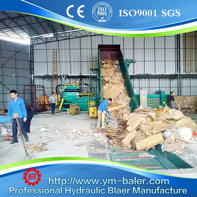 YM-WX120 Waste paper recycling machine,cardboard compactor