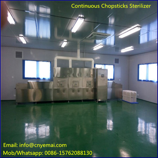 12KW High Efficiency continuous bamboo chopsticks sterilizer