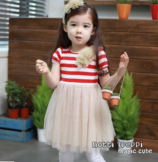 magic cube korean edition style  kids girl dress