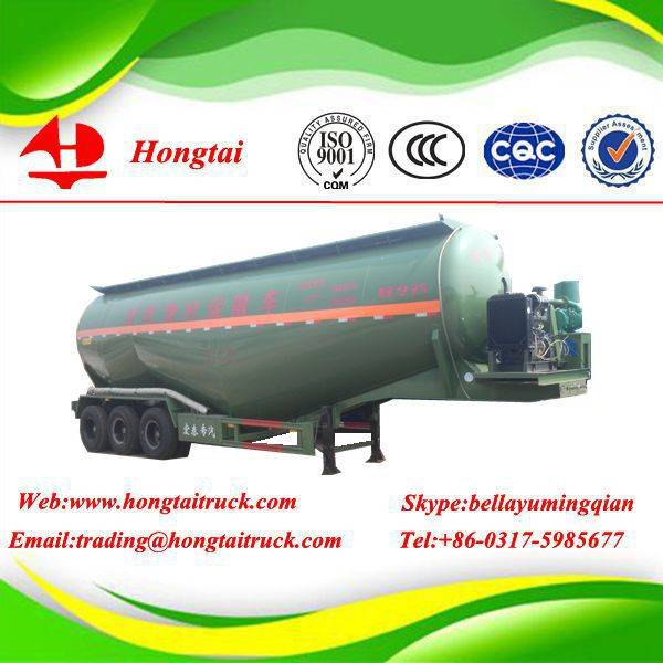 3 axles powder tanker semi trailer
