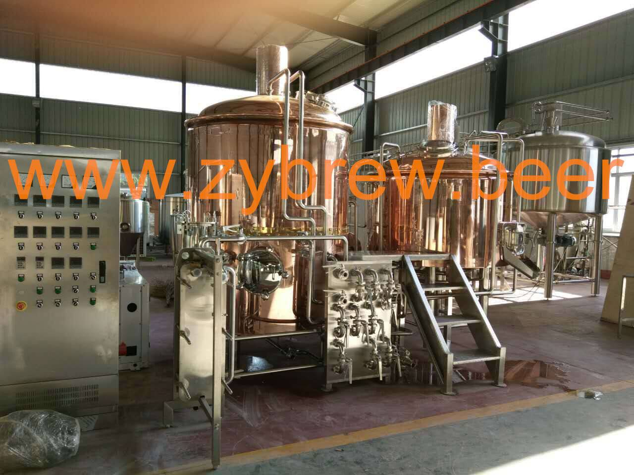 Beer brewery system, beer brewing equipment, turnkey copper brewery