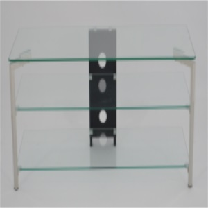 clear tempered glass tv stand