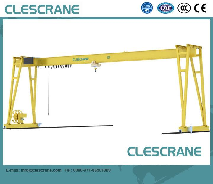LHG Series Electric Single Girder Mobile Gantry Crane 3 Ton- 32 Ton , Construction Used Gantry Crane