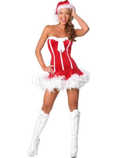 Wonderful Red Acrylic Spandex Christmas Dress Hat